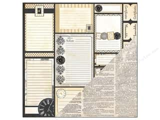 Bazzill Heritage Paper: Bazzill 12 x 12 in. Paper Tabs & Notes/Script 25 pc.
