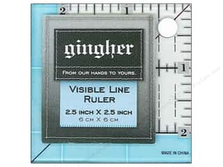 Gingher Visible Line Ruler 2.5&quot;x 2.5&quot;
