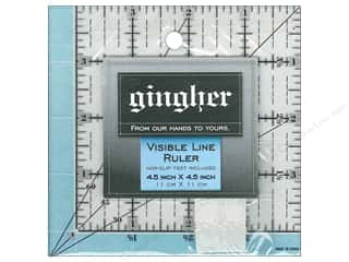 "Gingher Visible Line Ruler 4.5""x 4.5"""