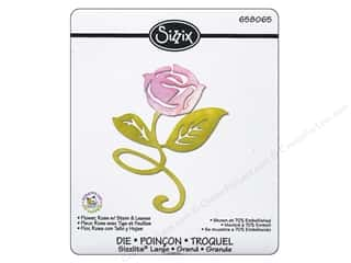 Sizzix Sizzlits Die Flower Rose w/ Stem & Leaves