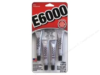 Quilting $0 - $4: Eclectic Adhesive E6000  0.18oz 4pc Card Clear