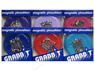 ballpoint tip pins: Blue Feather Grabbit Magnetic Pincushion Assorted