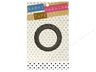 Darice Tape Washi Masking 5/8&quot; White/Black Dot 8m