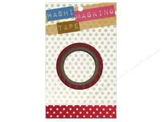 Darice Tape Washi Masking 5/8&quot; Red/White Dot 8m