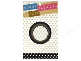 Darice Tape Washi Masking 5/8&quot; Black/White Dot 8m