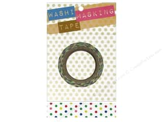 "Darice Tape Washi Masking 5/8"" White Mixed Dot 8m"