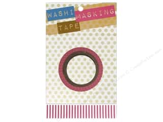 "Tapes Masking Tape: Darice Tape Washi Masking 5/8"" Pink/White 8m"