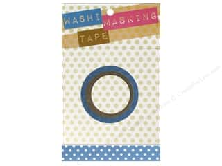 "Darice Tape Washi Masking 5/8"" Blue/White 8m"