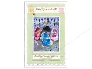 Curby's Closet Wearables Pattens: Curby's Closet Quilted Baby Criss Cross Shoes Pattern