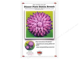 Flowers Books & Patterns: La Todera Dinner Plate Dahlia Brooch Pattern