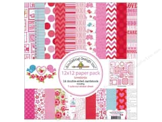 Doodlebug Paper Pack 12&quot;x 12&quot; Lovebirds