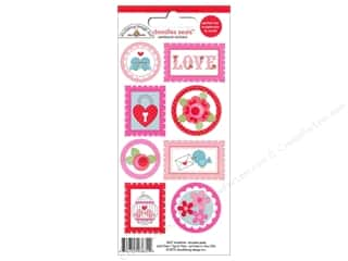Love & Romance Stamps: Doodlebug Stickers Cardstock Doodle Seals Lovebirds