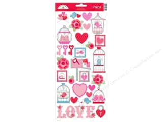 Doodlebug Sticker Cdstk Icons Lovebirds