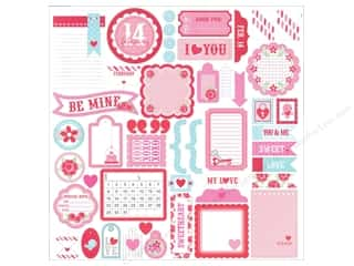 Tags Valentine's Day: Doodlebug Stickers Cardstock This & That Lovebirds