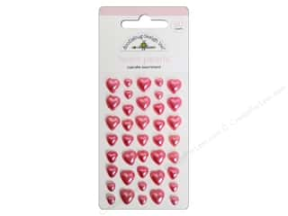 Doodlebug Heart Pearls Stickers Cupcake