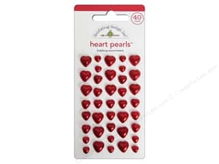 Doodlebug Heart Pearls Stickers Ladybug