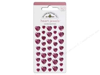 Doodlebug Sticker Heart Jewels Cupcake