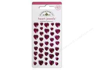 Doodlebug Sticker Heart Jewels Bubblegum