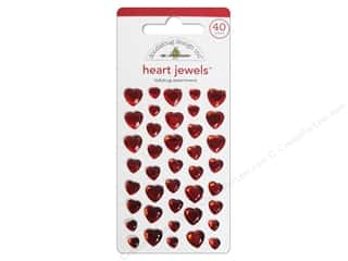 Doodlebug Sticker Heart Jewels Ladybug