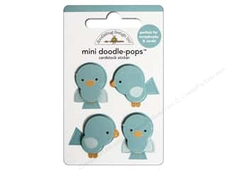 Valentine's Day Doodlebug Sticker: Doodlebug Doodle-Pops 3-D Stickers Mini Bluejays