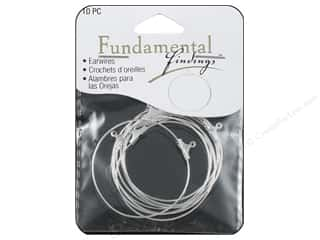 Craft & Hobbies Findings: Sweet Beads Fundamental Finding Earring Hoop Large Silver 10pc