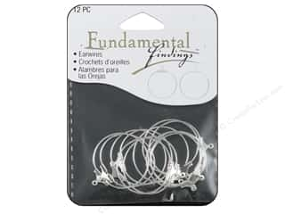 Craft & Hobbies Findings: Sweet Beads Fundamental Finding Earring Hoop Medium Silver 12pc