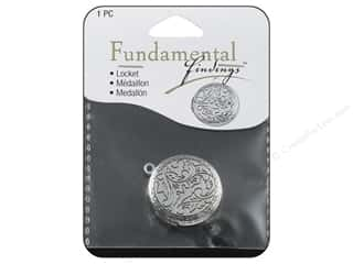 Staple mm: Sweet Beads Fundamental Finding Locket Round 27 mm Antique Silver