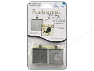 Staples Craft & Hobbies: Sweet Beads Fundamental Finding Pendant Frame Square 28 mm Antique Silver