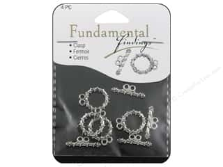Sweet Beads Toggle Clasp 15 mm 2 Strand Silver 4pc