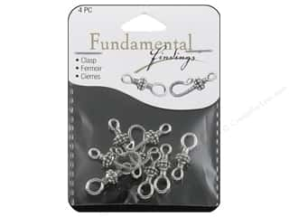 Sweet Beads Hook Clasp 25 mm Silver 4pc
