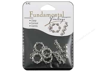 Sweet Beads Toggle Clasp 15 mm 3 Strand Silver 4pc
