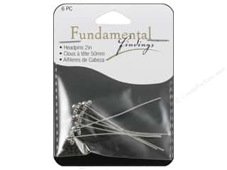 Findings $5 - $6: Sweet Beads Fundamental Finding Headpin Fancy Antique Silver 6pc