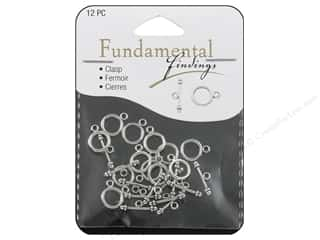 Staples $9 - $12: Sweet Beads Fundamental Finding Toggle Clasp 9 mm Silver 12pc