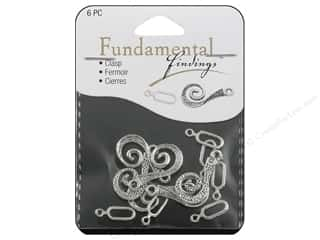 Clearance Sweet Beads: Sweet Beads Fundamental Finding Hook Clasp 26 mm Silver 6pc