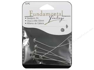 Staples $4 - $6: Sweet Beads Fundamental Finding Headpin Fancy Antique Silver 6pc