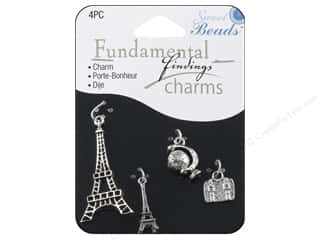 Beads Vacations: Sweet Beads Fundamental Finding Charms 4 pc. Paris Silver