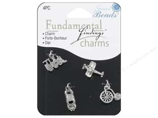 Sweet Beads Charm Travel Silver 4pc