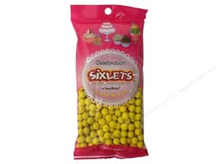 Edible Decorations / Icing / Sprinkles: SweetWorks Celebration Sixlets 14oz Yellow