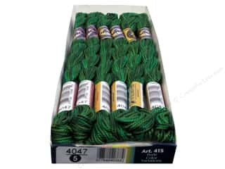 Threads $5 - $7: DMC Pearl Cotton Variations Size 5 #4047 Emerald Isle (6 skeins)