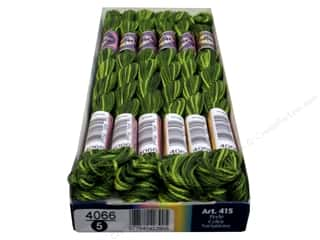 Threads $5 - $7: DMC Pearl Cotton Variations Size 5 #4066 Amazon Moss (6 skeins)