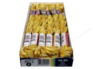 Threads $5 - $7: DMC Pearl Cotton Variations Size 5 #4073 Buttercup (6 skeins)