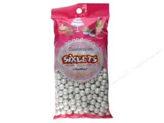 Edible Decorations / Icing / Sprinkles: SweetWorks Celebration Sixlets 14oz Shimmer White