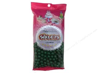 Edible Decorations / Icing / Sprinkles: SweetWorks Celebration Sixlets 14oz Green