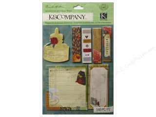 Tabs Clearance Crafts: K&Company Tags Brenda Walton Scribe Adhesive Journal