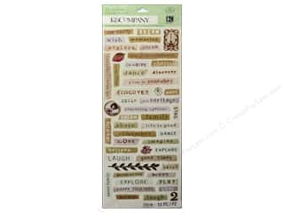 K&Co Sticker Embossed BWalton Maison Word Strips