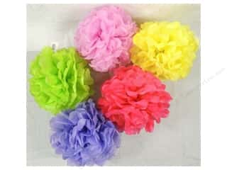 Wedding & Bridal $5 - $10: Sierra Pacific Tissue Paper Ball 11 1/2 in. Assorted Colors 5 pc. (5 pieces)