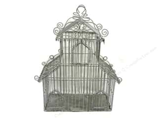 "SPC Mtl Birdcage Scroll Roof Line 17.5"" Grey"
