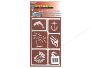 Beach & Nautical $0 - $2: Armour Over 'N' Over Stencil Seashore