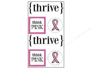 Think Pink: SRM Press Sticker Quick Cards Thrive
