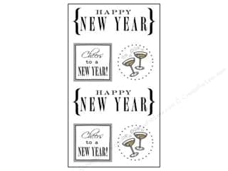 SRM Press Sticker Quick Cards New Year's